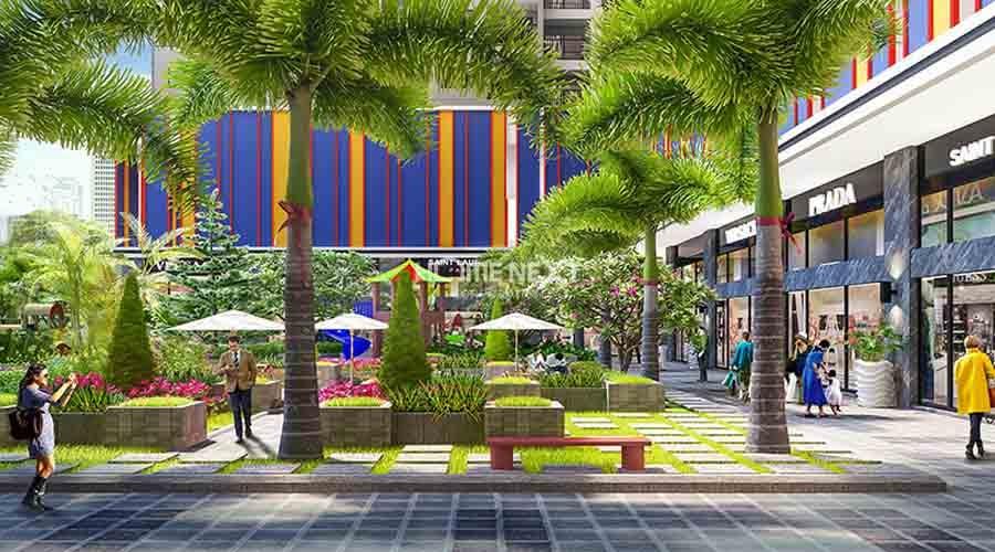 Công viên cây xanh ngay tại dự án cho thuê căn hộ dịch vụ