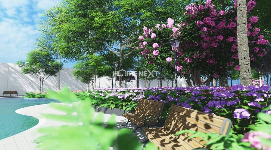 tiện ích công viên bốn mùa rộng 4ha tại thịnh gia tower