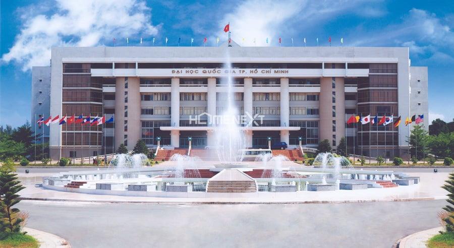 Trường Đại học Quốc gia Thành phố Hồ Chí Minh có phần diện tích lớn ở Dĩ An