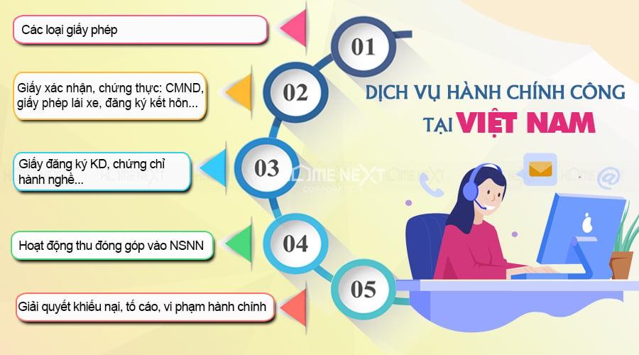 Một số dịch vụ hành chính công điển hình tại Việt Nam