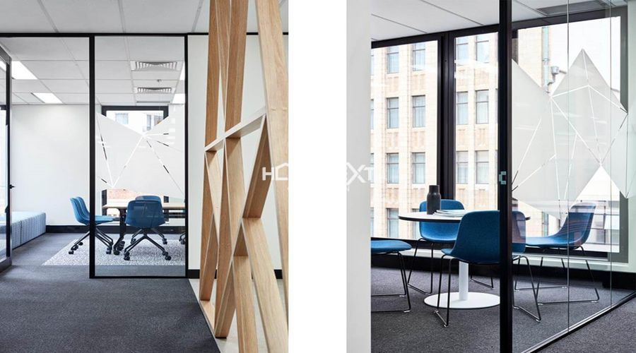 Sử dụng đồ họa hình học trong thiết kế văn phòng