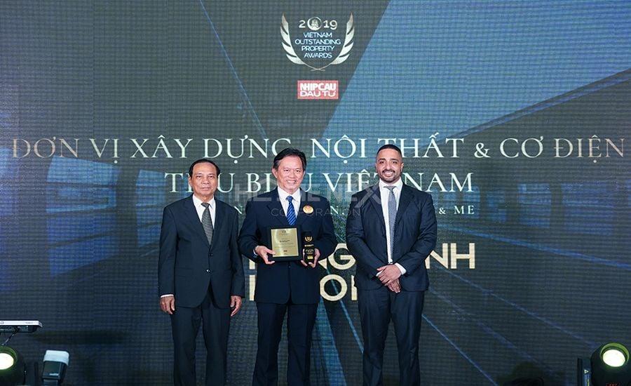 Đơn vị xây dựng, nội thất và cơ điện tiêu biểu Việt Nam 2019