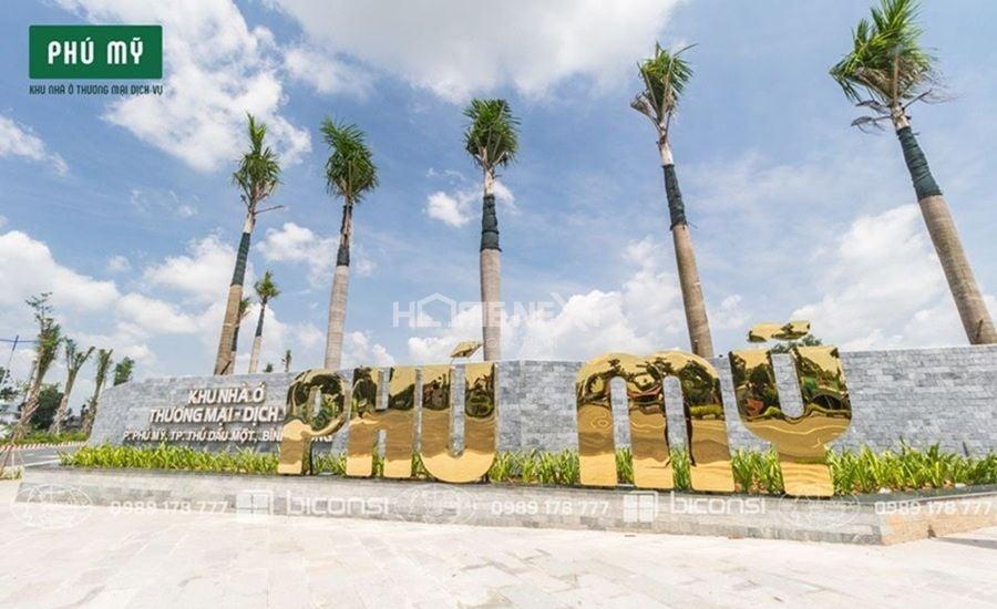 Cổng chào của dự án khu thương mại dịch vụ Phú Mỹ