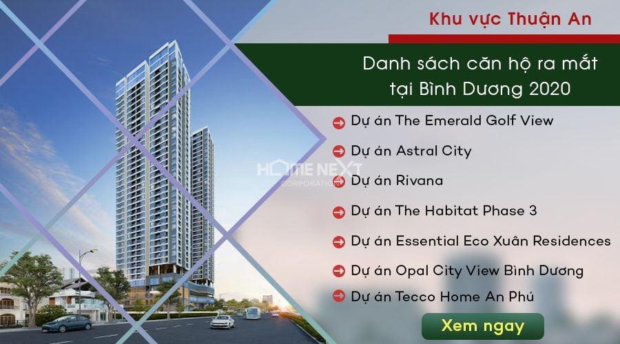 dự án căn hộ chung cư tại Thuận An