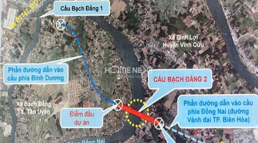 Dự án xây cầu Bạch Đằng 2 nối Bình Dương và Đồng Nai