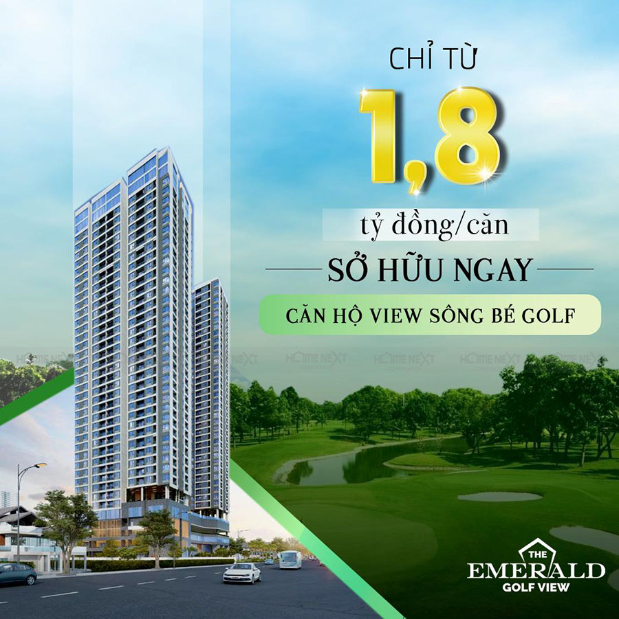 giá bán căn hộ Emerald Golf View chỉ từ 1,8 tỷ/căn