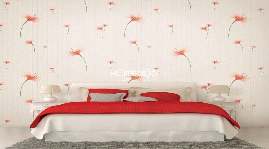 Mẫu giấy dán tường đơn giản cho phòng ngủ