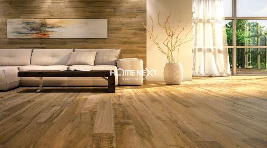 Gỗ lót sàn được sử dụng nhiều trong thiết kế nhà ở chung cư, căn hộ