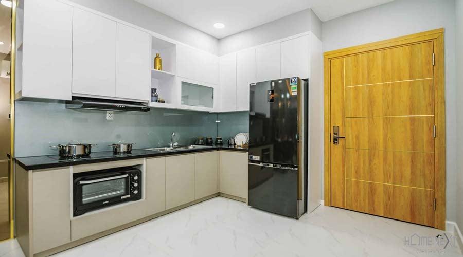 nhà bếp mẫu tại căn hộ Happy One
