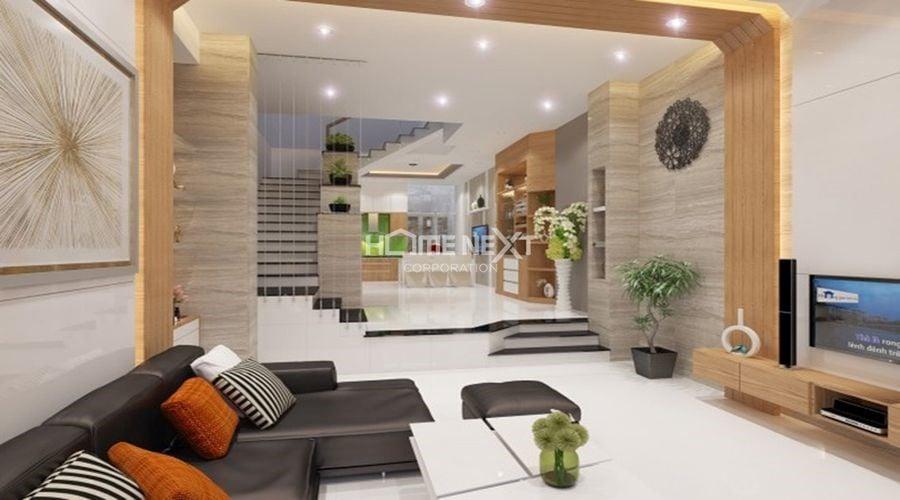 Vật liệu kính được sử dụng trong nội thất nhà phố hiện đại