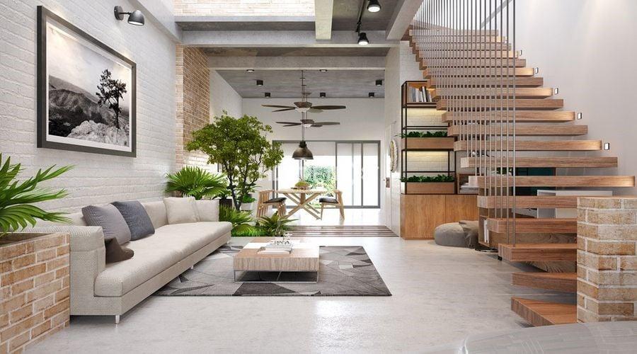Tạo đường nét thoáng mát cho không gian nội thất nhà phố thêm rộng mở