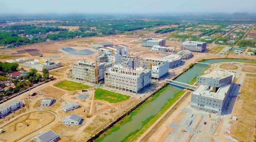 Tiến độ xây dựng trường Đại học Việt Đức Bình Dương