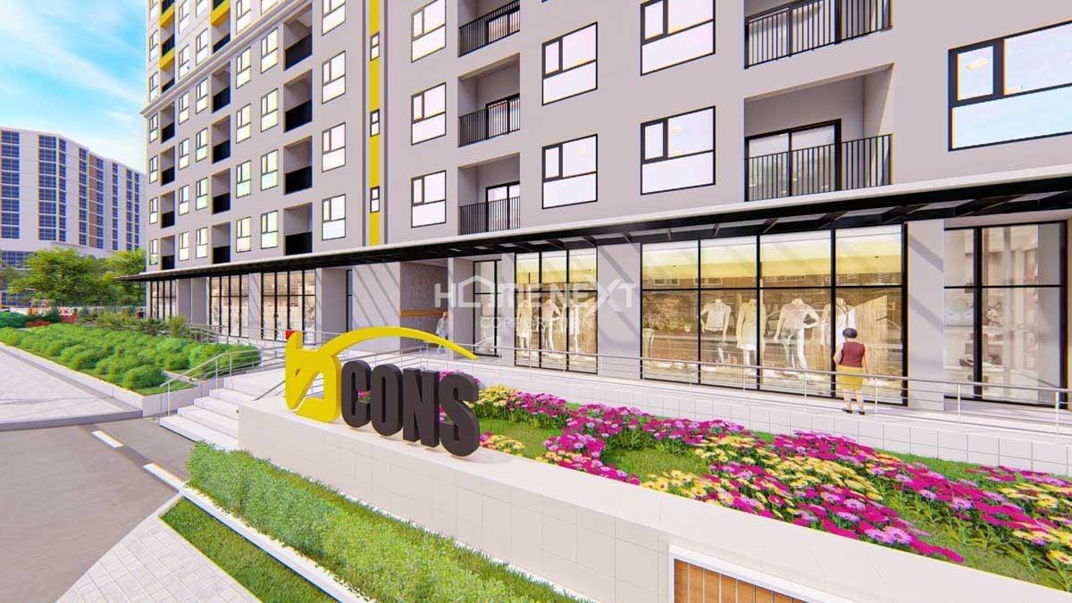 Khu trung tâm mua sắm khu vực dự án