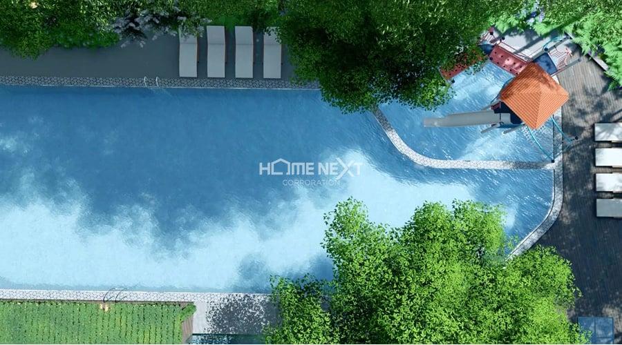 thịnh gia tower có hồ bơi dài 500m