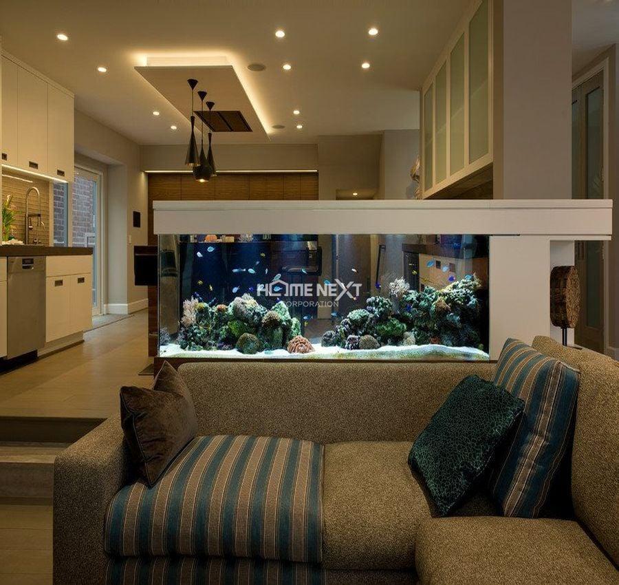 Bể cá phong thủy cho phòng khách
