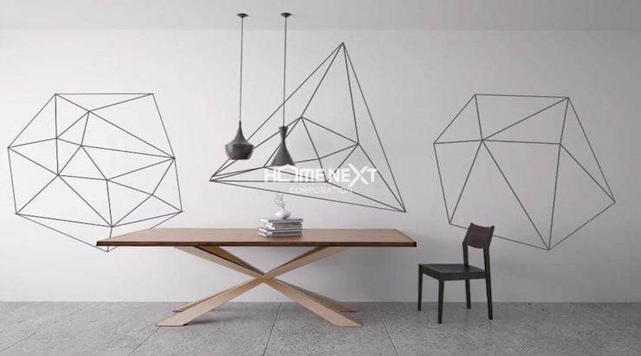 Tô điểm cho không gian bằng các họa tiết hình học độc đáo