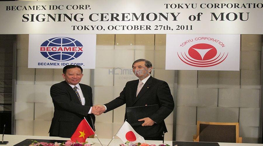 Tokyu Corporation và Becamex IDC Corp ký kết thỏa thuận hợp tác