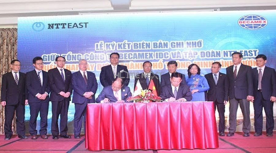 Lễ ký kết biên bản ghi nhớ giữa Becamex IDC và NTT East