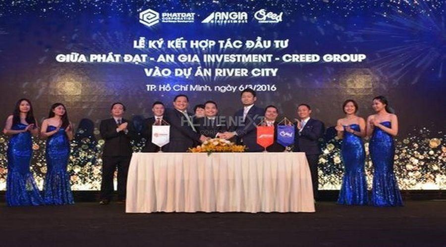 Lễ ký kết hợp tác ba bên đầu tư dự án River City giữa Phát Đạt, An Gia và Creed Group