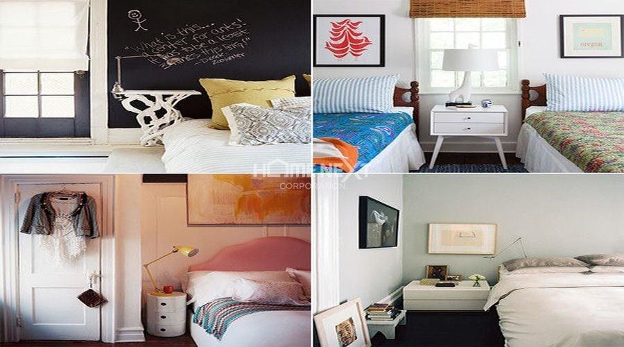 Kệ đầu giường với nhiều kiểu dáng, kích thước khác nhau