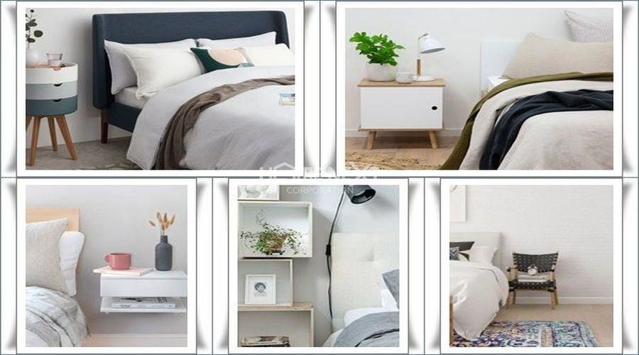 Kệ trang trí đầu giường nhỏ nhắn, tiện dụng