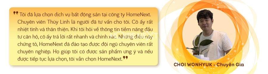 khách hàng chia sẻ cảm nhận về công ty HomeNext khi lần đầu mua căn hộ tại Bình Dương