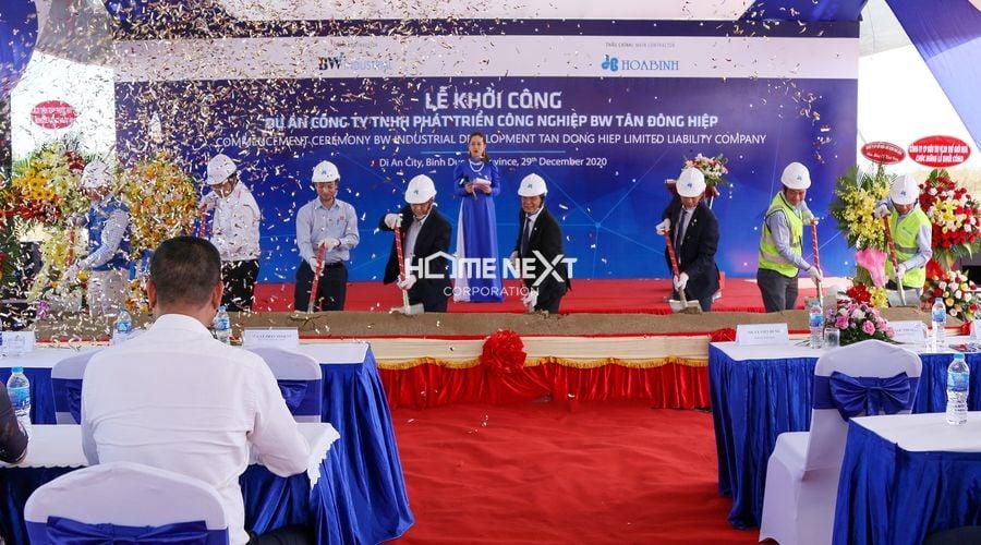 Lễ khởi công dự án nhà xưởng Công ty TNHH Phát triển công nghiệp BW Tân Đông Hiệp
