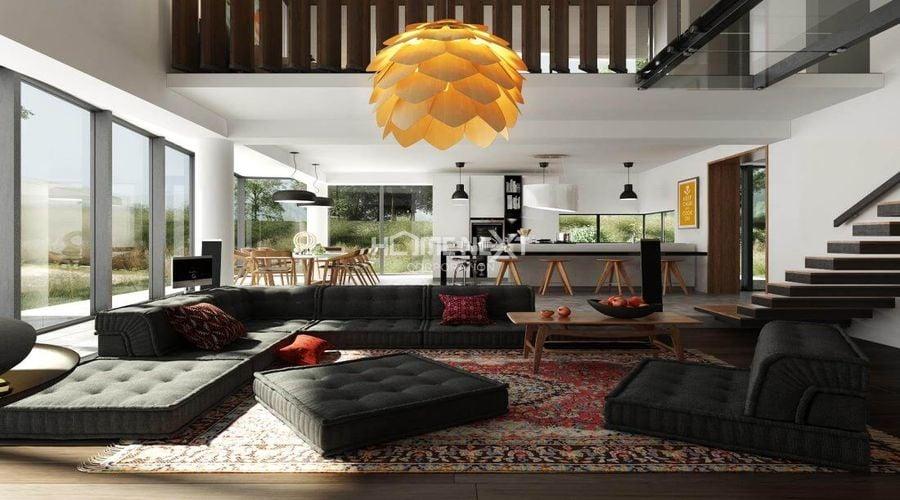Phòng khách với thiết kế không gian mở