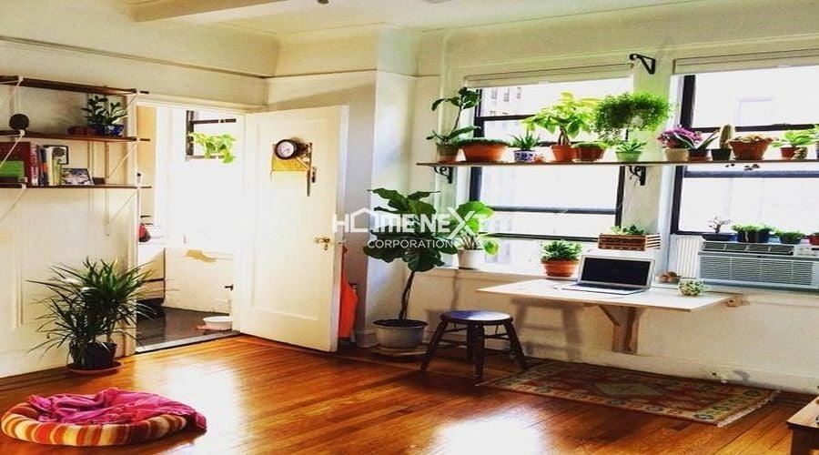 Không gian xanh được đưa vào bày trí không gian căn hộ
