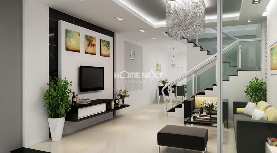 Bố trí không gian xanh nơi phòng khách