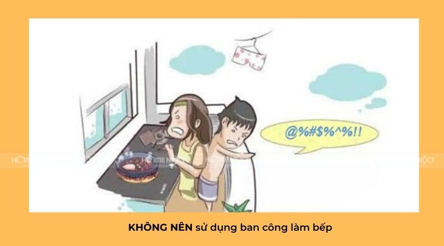 khong-nen-su-dung-ban-cong-lam-nha-bep