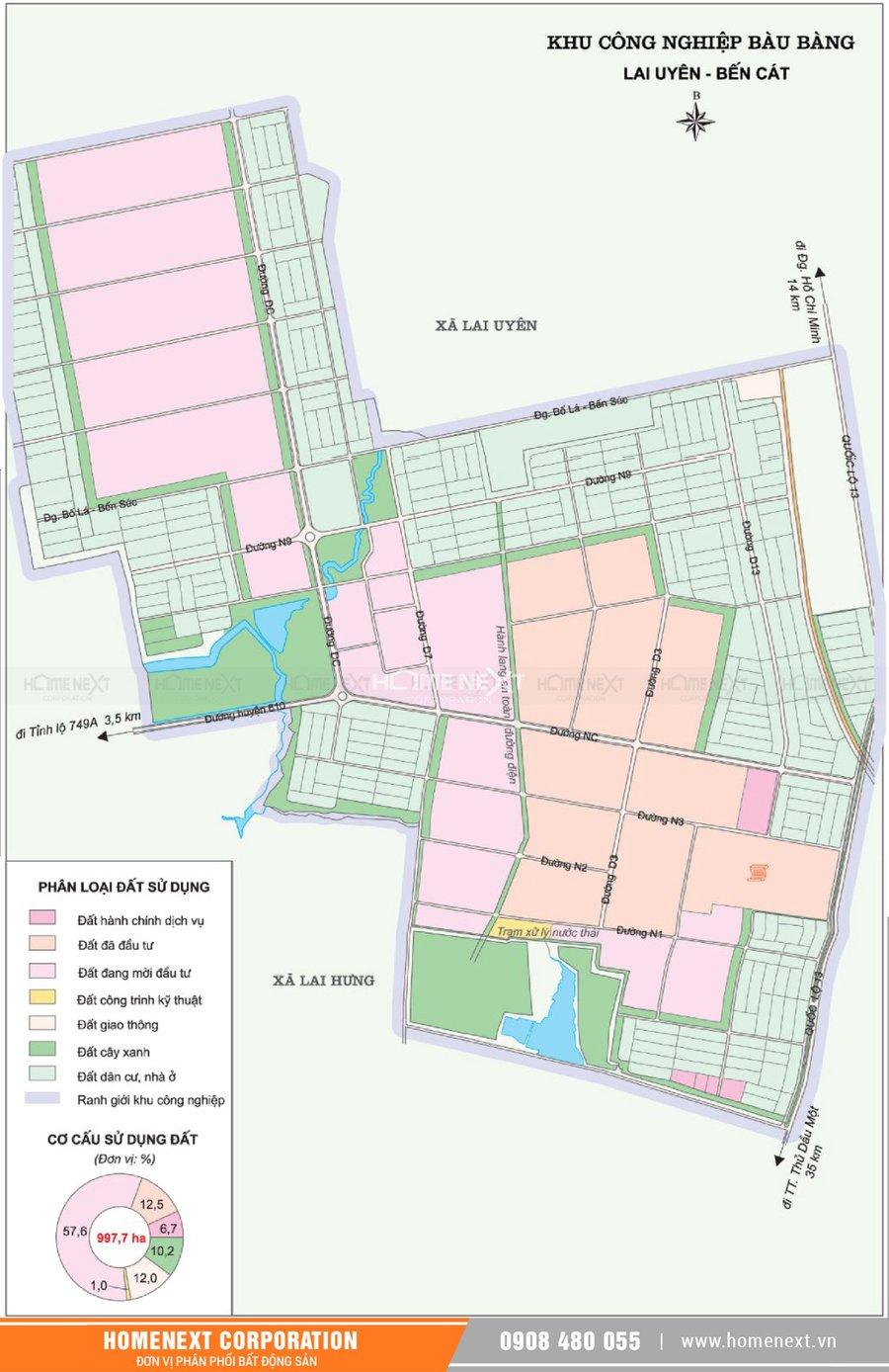 Bản đồ khu công nghiệp Bàu Bàng Bình Dương. Nhấp vào ảnh xem đầy đủ kích thước