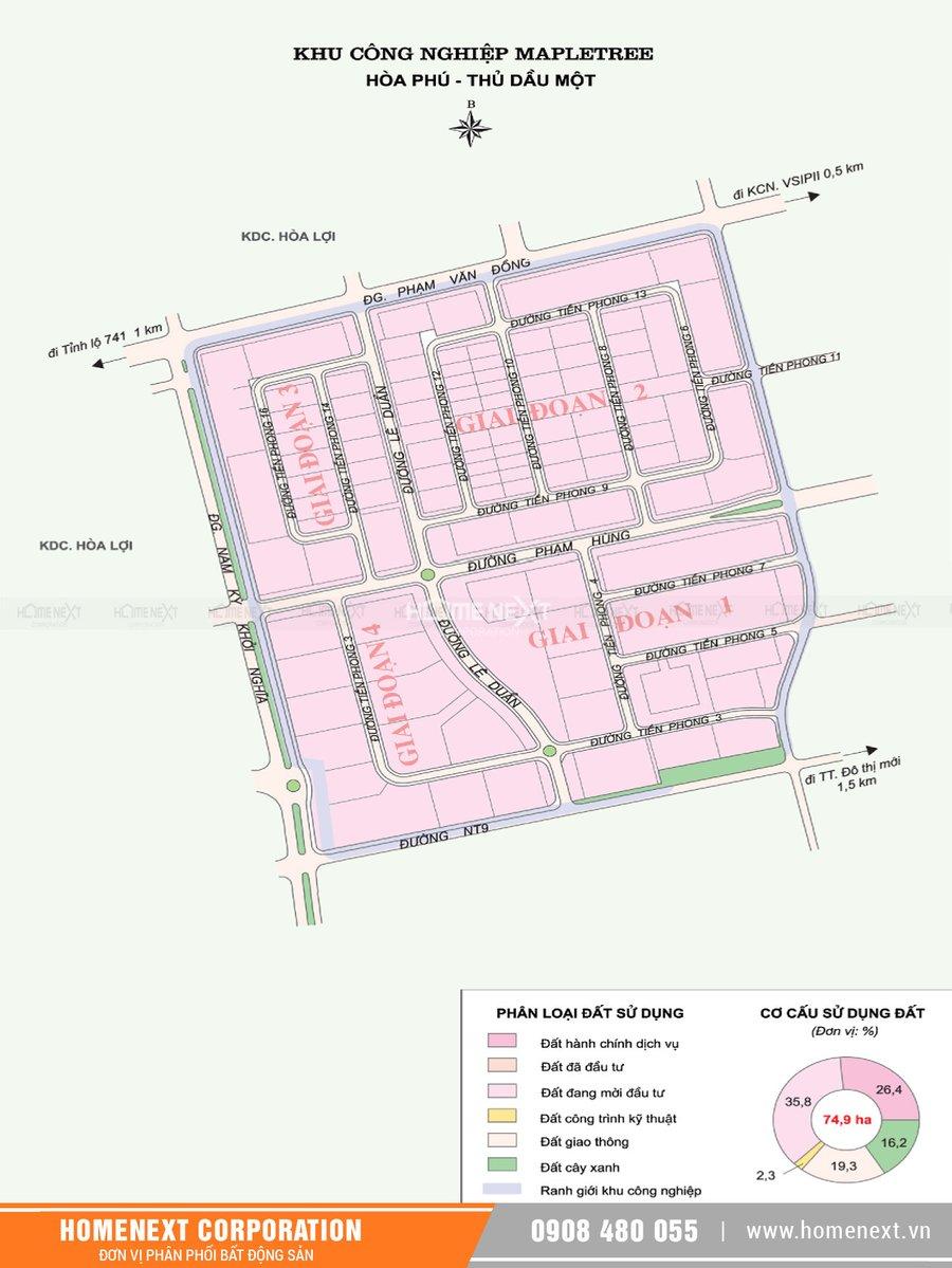 Bản đồ khu công nghiệp Mapletree Bình Dương. Nhấp vào ảnh xem đầy đủ kích thước