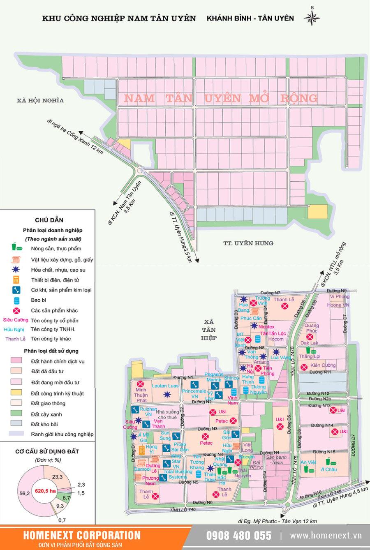 Bản đồ khu công nghiệp Nam Tân Uyên Bình Dương. Nhấp vào ảnh xem đầy đủ kích thước