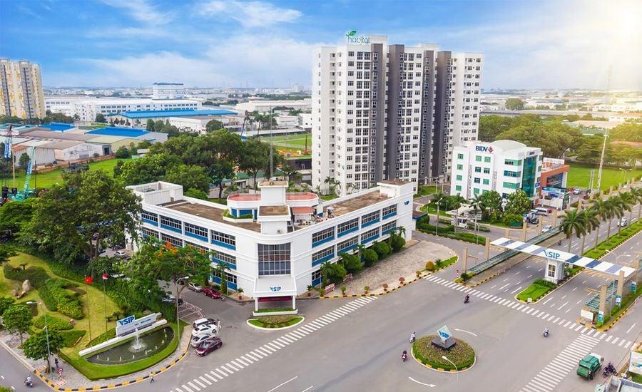 Cổng chào khu công nghiệp VSIP I tại Thuận An
