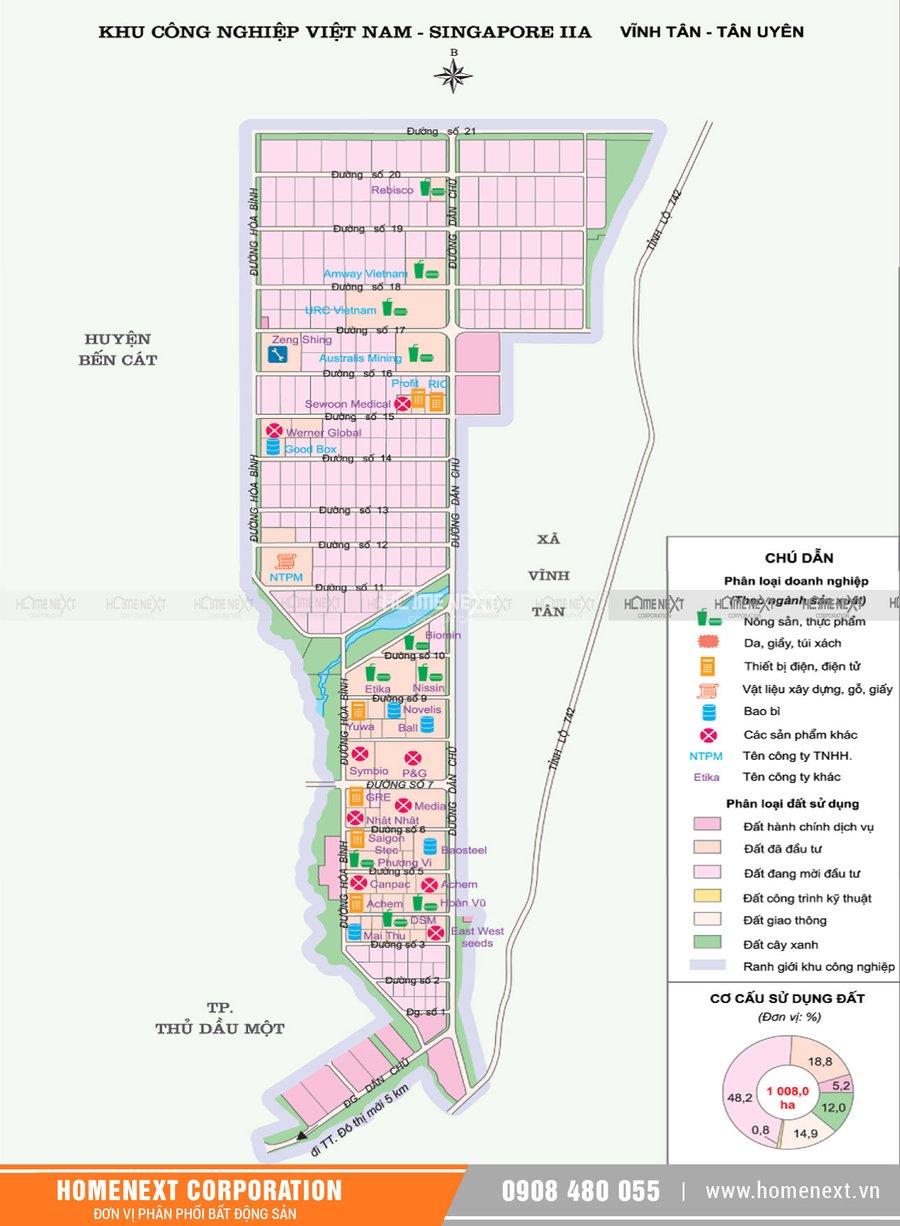 Bản đồ khu công nghiệp Vsip 2a Bình Dương. Nhấp vào ảnh xem đầy đủ kích thước