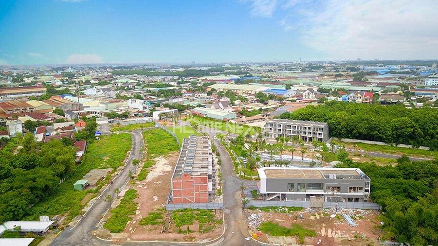 Nhìn bao quát cảnh khu đất dự án The Standard An Gia từ trên cao