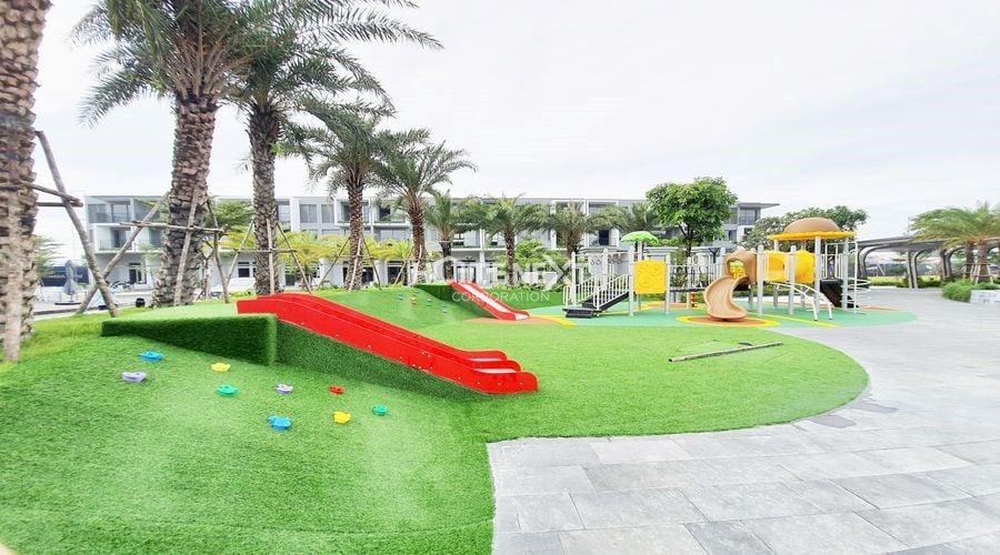 Khu vui chơi giải trí với khuôn viên xanh