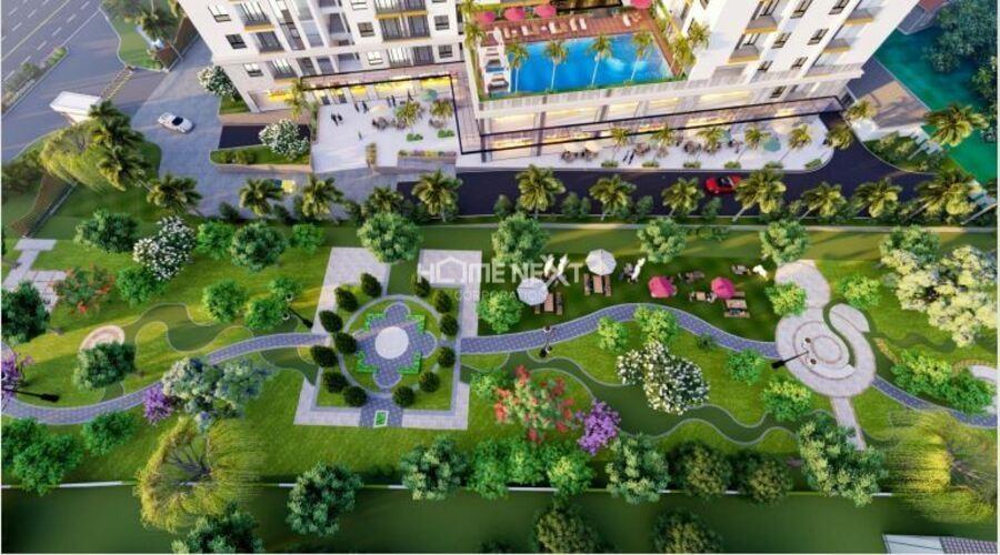Khuôn viên chung cư Minh Quốc Plaza