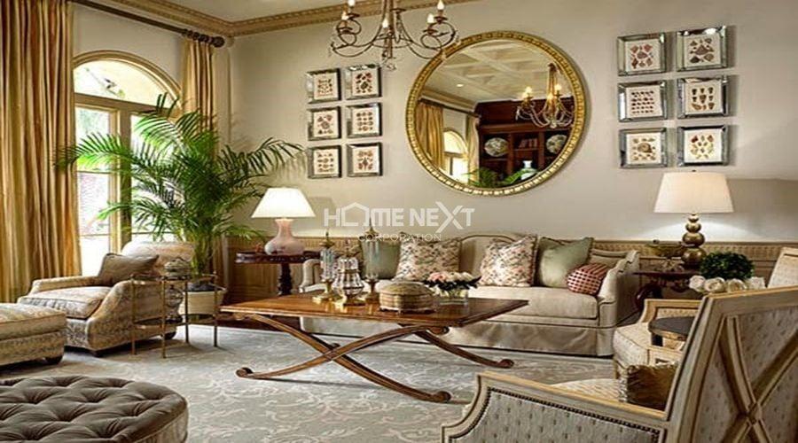 Quy tắc đối xứng được vận dụng nhiều trong nội thất