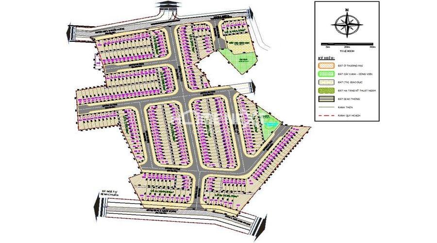 Sơ đồ dự án khu nhà ở thu nhập thấp Lê Phong Bình Chuẩn