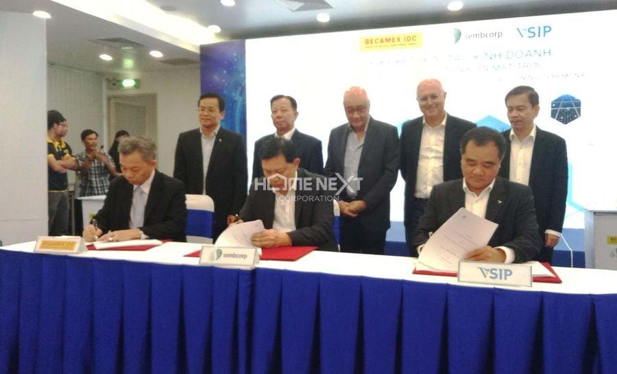 Liên doanh hợp tác giữa tập đoàn Sembcorp Develoment và Becamex IDC