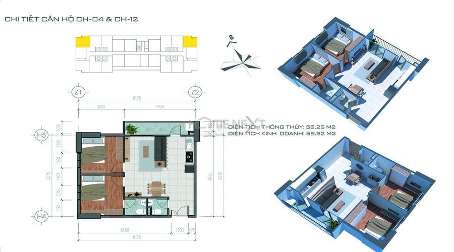 Chi tiết mặt bằng căn hộ tại Tecco Home An Phú