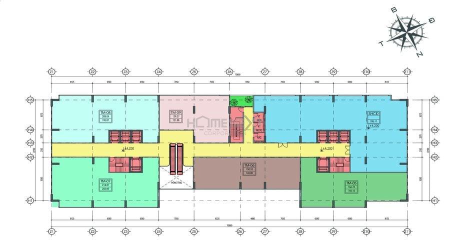 Mặt bằng tầng tầng 2 dự án Tecco Home An Phú