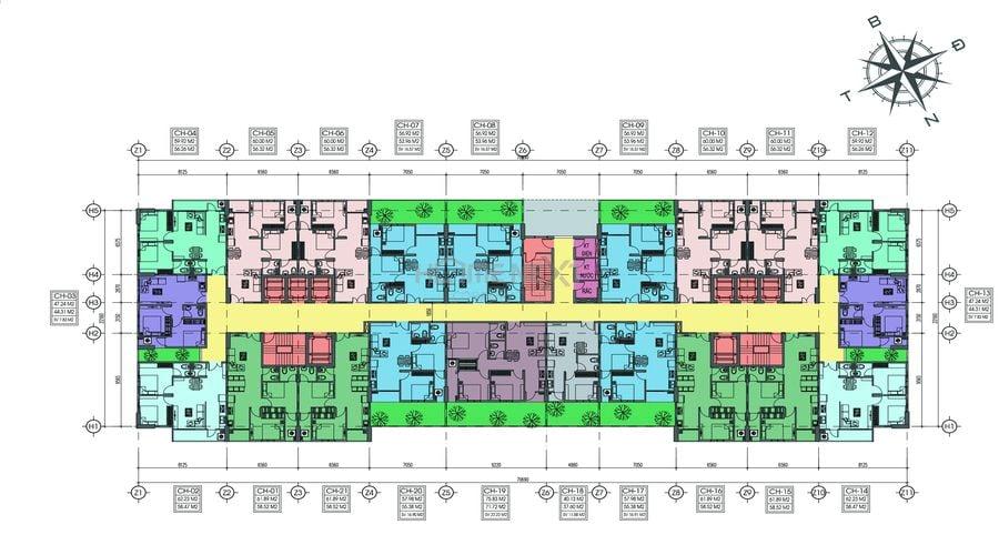 Mặt bằng tầng tầng 3 dự án Tecco Home An Phú