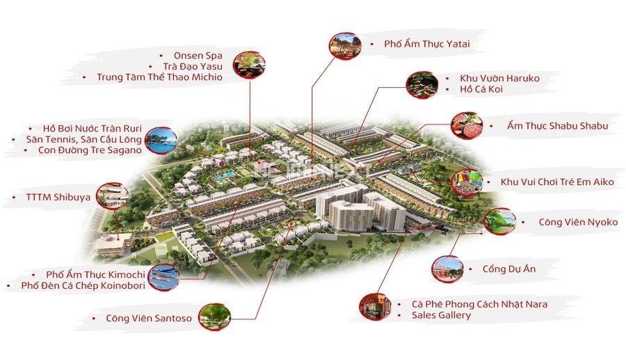 Mặt bằng phân bố tiện ích nội khu dự án Takara Residence