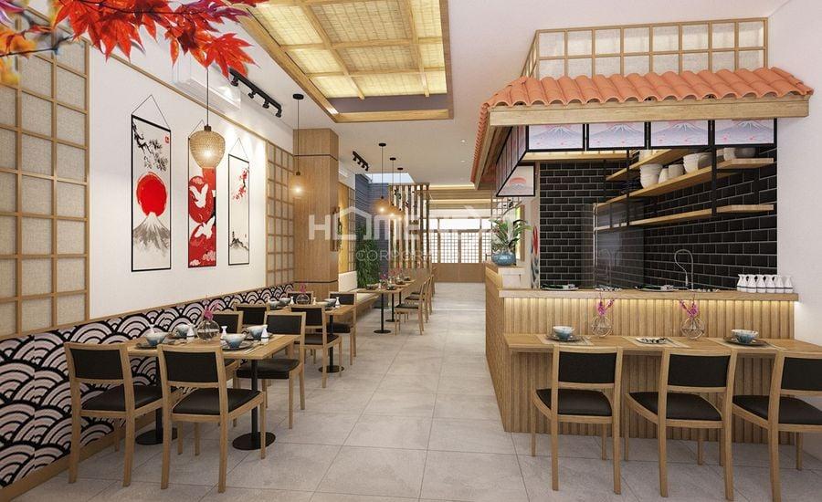 Tầng trệt  shophouse Takara Residence dược sử dụng để kinh doanh ăn uống