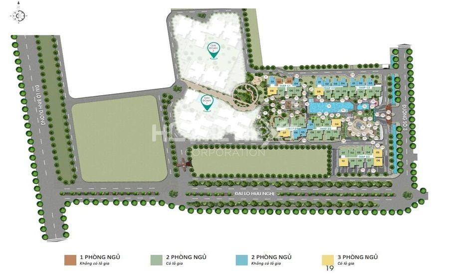 Bố trí tiện ích nội khu dự án Habitat giai đoạn 3