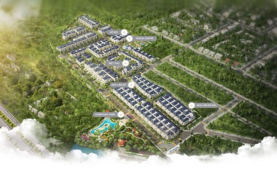 Mặt bằng tổng thể dự án nhà phố The Standard Bình Dương