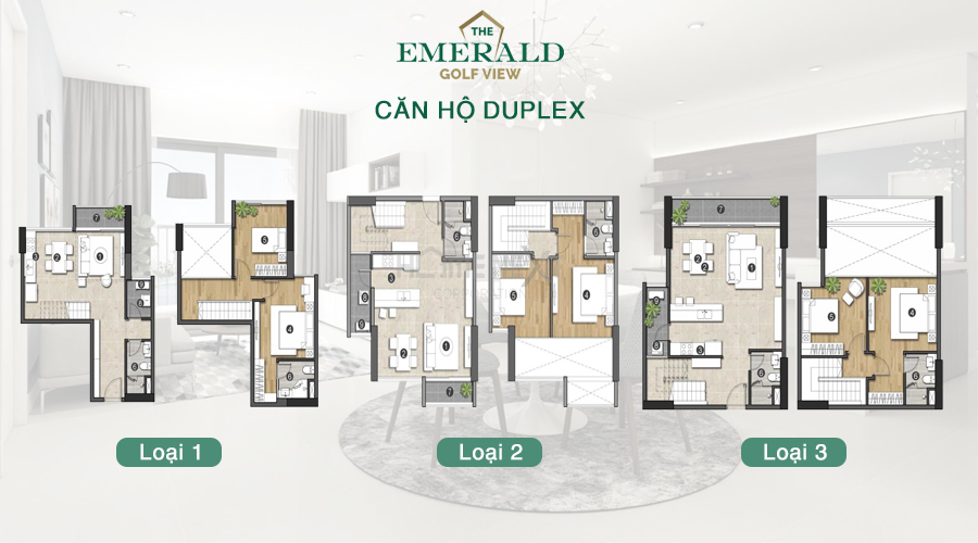 căn hộ Emerald Golf View duplex